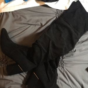 Shoes - Thigh High Black Boots